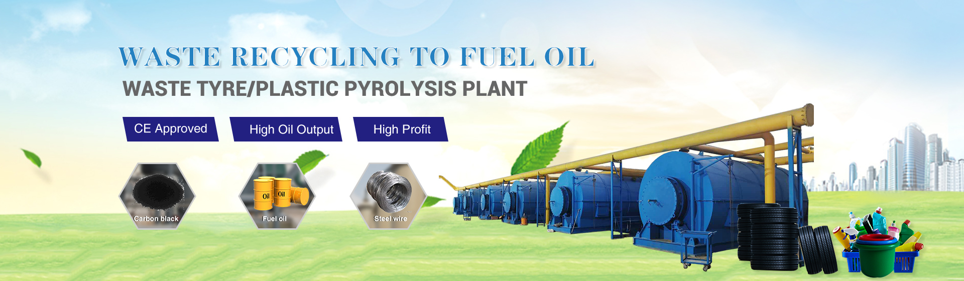 Manufacturer and Supplier of Waste Tyre/Plastic Pyrolysis